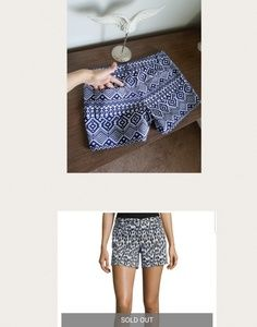 Laundry By Shelli Segal Shorts - Laundry Aztec Shorts Shelli Segal
